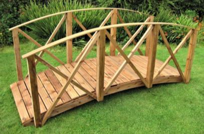 Koi Pond Garden Bridge