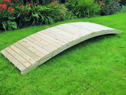 Wood Count Garden Bridge